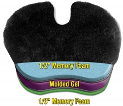 Comfort Max Gel Pad with Plush Australian Sheepskin Cover